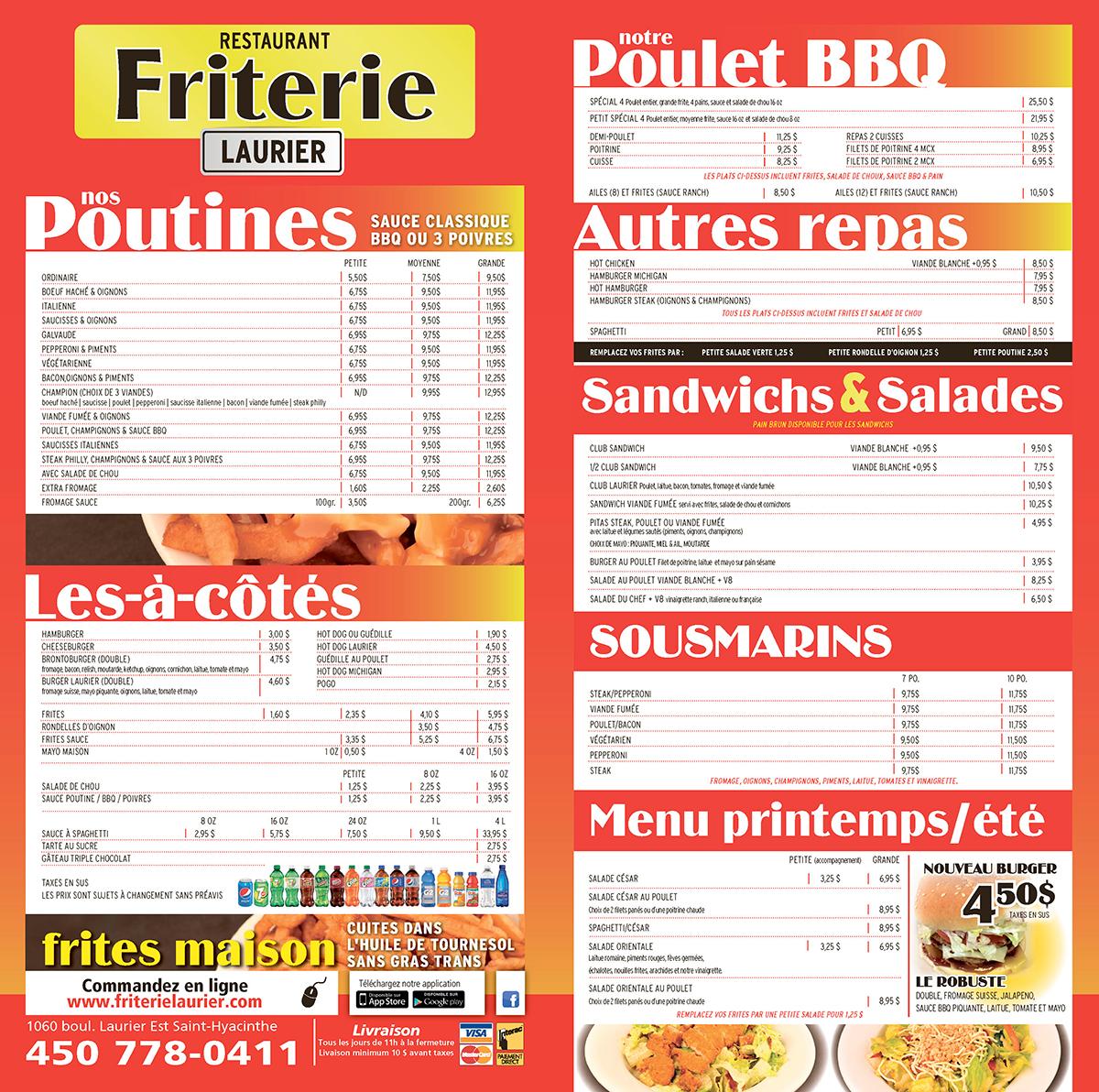 Restaurant Friterie Laurier   Rapido Resto